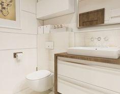 Aranżacje wnętrz - Łazienka: Projekt łazienka w ciepłych kolorach - 'makeover' - Średnia łazienka, styl nowoczesny - A1Studio. Przeglądaj, dodawaj i zapisuj najlepsze zdjęcia, pomysły i inspiracje designerskie. W bazie mamy już prawie milion fotografii!