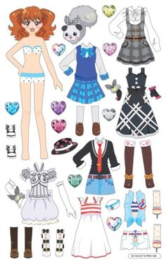 Jewel of Dreams Prism Stone - Eritic Solid Coordination Sticker, Genre, Sketc. Paper Doll Costume, Barbie Paper Dolls, Vintage Paper Dolls, Paper Doll Template, Paper Dolls Printable, Paper Dolls Clothing, Doll Clothes, Cardboard Crafts, Paper Crafts