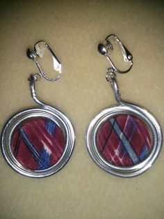Cloth button earring :)
