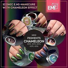 Ecco i nuovi #Pigmenti E.Mi #192 #193 #194 #195 #196 Facile da applicare! Li troverete sul nostro sito web www.blackandwhitenails.it