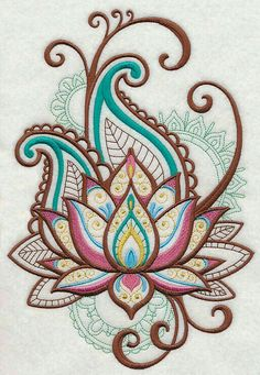 Machine Embroidery Designs at Embroidery Library! – Lotus Machine Embroidery Designs at Embroidery Library! – Lotus This image has get. Mehndi Designs, Tattoo Designs, Tattoo Ideas, Art Designs, Machine Embroidery Designs, Embroidery Patterns, Hand Embroidery, Garden Embroidery, Embroidery Tattoo