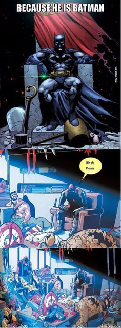 Except Batman didn't kill anyone. He snuck into their house while they were still there and no one even noticed. POINT DC!!!