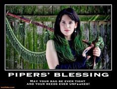 demotivational poster Pipers' blessing