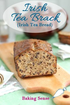 Irish Tea Brack is a not-too-sweet quick bread that is moist with dried fruits that have been soaked in strong black tea. The honey glaze is brushed on when the loaf is hot from the oven. Healthy Bread Recipes, Tea Recipes, Sweet Recipes, Baking Recipes, Drink Recipes, Cake Recipes, Irish Tea, Welsh Recipes, Simple Muffin Recipe