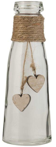 Clayre & Eef 6GL1284 Deko Dekoration Flasche Glasflasche transparent ca. Ø 7 x 20 cm