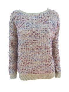 Jersey Colores  Jersey crudo combinado con hilo de color granate rosa efecto greca