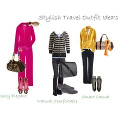 Aileen's Travel Outfits by aileenlane on Polyvore featuring polyvore, fashion, style, Juicy Couture, Wet Seal, Vanessa Bruno, Old Navy, Miso, Boden and Yves Saint Laurent