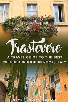 Trastevere is the BEST neighborhood to stay in Rome. Here are the top things to do and eat in Trastevere. Is Safe To Travel To Rome? Italy Travel Tips, Rome Travel, Travel Europe, Euro Travel, Travel Plane, Travel Goals, Positano, Mykonos, Santorini