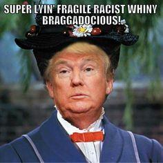 """Super Lyin' Fragile Racist Whiny Braggadocious!"""