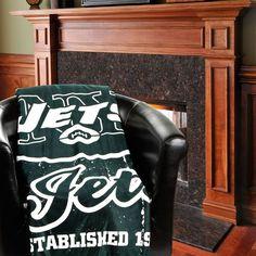 "New York Jets 50"" x 60"" Old School Mink Sherpa Plush Blanket - $39.99"