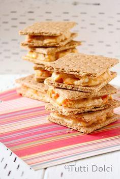 Frozen Apricot Curd-Cheesecake Bars | Tutti Dolci