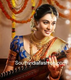 puff sleeves blouse designs for silk sarees
