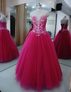 Cheap dress up wedding dresses, Buy Quality dress cheap directly from China dress patterns prom dresses Suppliers: 17 vestido de festa debutante sweetheart Crystal fuchsia Ball Gown Quinceanera Dress Sweet 16 Party Dress