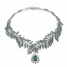 Fern Necklace: From the Fern Collection. William Morris etc English tradition High Jewelry, Jewelry Box, Jewelery, Jewelry Necklaces, Vintage Diamond, Jewelry Design, Bling, Silver, Fern Wallpaper
