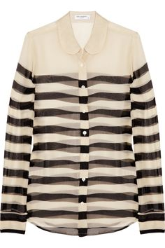 the sophie striped silk-chiffon shirt by equipment.