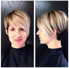 Short layered haircut with long bangs for women This short hairstyle combines fashion with a neat professional look that can be varied in several ways to match every occasion. In addition, this is one of the best short haircuts for women with a long face shape. The long front layers end just below the cheeks,[Read the Rest]