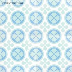 Cement Tile Shop - Abigail I - The Abigail I is one of our newest stock patterns! We love the fresh colors and classic pattern, what do you think? Encaustic Tile, Classic Collection, Tile Patterns, Cement, Handmade, Shop, Kitchen Reno, Small Bathroom, Home Decor