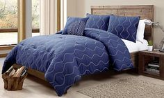 Groupon - 4-Piece Embroidered and Embellished Comforter Sets in [missing {{location}} value]. Groupon deal price: $59.99