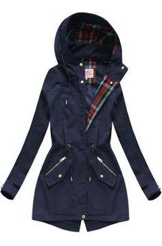 Dámska prechodná bunda parka tmavomodrá W152 Raincoat, Parka, Outfit, Jackets, Fashion, Rain Jacket, Outfits, Down Jackets, Moda