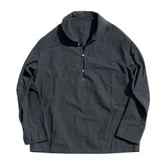 LOCAL BLACK PULLOVER SHIRT|Porter Classic(ポータークラシック)
