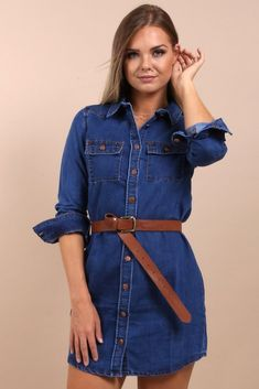 I absolutely adore this denim shirt dress. Sometimes I like to change up this casual outfit by adding black leggings and boots in the fall and winter and a belt with flats in the spring and summer. I love simple and chic clothes like this that are so versatile for every season. Dress it up with heels and a statement necklace. Layer it with a sweater or cardigan for extra warmth and a pop of color. Add this classic piece to your wardrobe from the Virgo Boutique Store! #denim #shirt #dresses Boutique Stores, Denim Shirt Dress, Black Leggings, Chic Outfits, Virgo, Color Pop, Dressing, Change, Flats