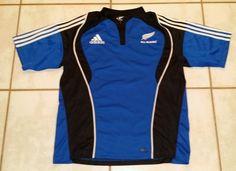Rare ADIDAS New Zealand ALL BLACKS Rugby 2007  Jersey Men's XL #adidas