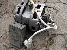 Как подключить двигатель от старой стиральной машины через конденсатор или без него - YouTube