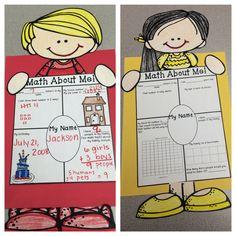 The 2 Teaching Divas: Math About Me!!