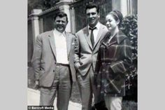 (l-r) Johnny Squibb (very good friend of the Krays, particularly Reg), Reggie Kray and Frances Kray in Nov 1964 in Southern Spain.