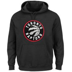 2e6d54fcaf35 Men s Toronto Raptors Majestic Black Current Logo Tech Patch Pullover Hoodie