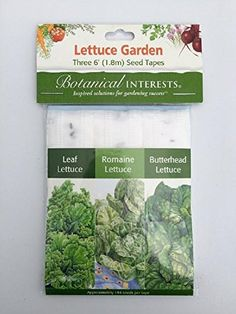 Lettuce Garden  Three 6 foot Seed Tapes  Leaf Romaine Butterhead ** You can find out more details at the link of the image.