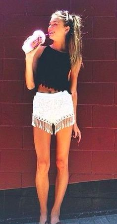 Love the top, and the fringe on the shorts is a great touch