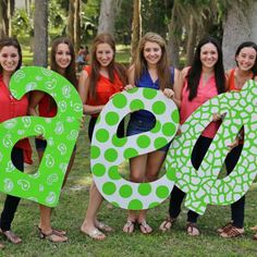 Love these #aephi letters. Make each letter unique but keep the colors consistent for a glamorous look.