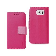 Reiko Samsung Galaxy S6 3-In-1 Wallet Case In Hot Pink //Price: $18.99 & FREE Shipping //     #mobileaccessories #phonecases