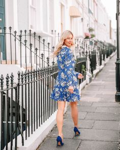 c52d2bd91c5d7 she goes wear workwear ASOS DESIGN mini skater dress with collar in floral  print blue skater · Workwear FashionOffice ...
