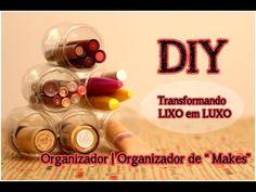 Transformando Lixo em Luxo (DIY): Organizador de Makes | Organizador de ...