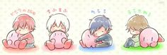 SoraMafuUraSaka with Kirby Neko Boy, Chibi Boy, Anime Chibi, Anime Art, Vocaloid, Avatar, Chibi Couple, Satsuriku No Tenshi, Otaku