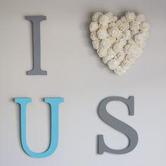 """""""I Love Us"""" Wall Decor"""