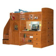 Walmart: Play and Study Twin Loft with Chest and Stairway - Nutmeg (+ $3000)