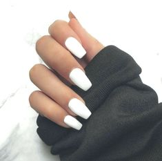 43 White nail art designs - The Perfect manicure minimalist & Great with any out. - 43 White nail art designs – The Perfect manicure minimalist & Great with any out… - Acrylic Nails Coffin Short, Simple Acrylic Nails, Best Acrylic Nails, White Coffin Nails, Matte White Nails, Coffin Acrylics, Best Nails, White Acrylic Nails With Glitter, White Short Nails