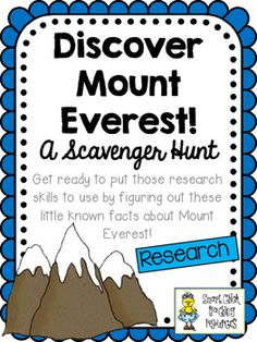 $ Discover Mount Everest! Scavenger Hunt Activity and KEY