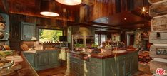 Syringa Ranch - Main Residence - Straight Line Building Design Western Kitchen, Country Kitchen, Sage Green Paint, Brown Kitchens, Rustic Kitchens, Dream Properties, Maine House, My Dream Home, Dream Homes