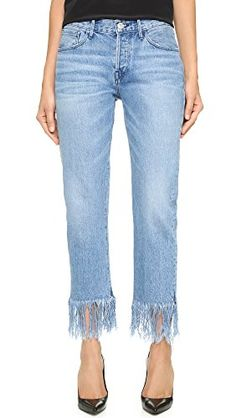 3x1 Womens WM3 Straight Crop Fringe Jeans Stella 24 >>> Read more reviews of the product by visiting the link on the image.