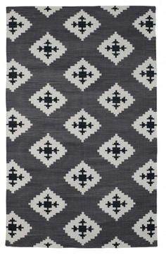 Charcoal Dhurrie.....The Rug Company