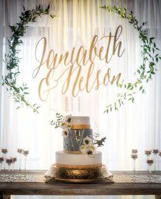 Calligraphy Names, Gorgeous Wedding Background, Eucalyptus Wreath, Elegant Weddi. Wedding Cake Backdrop, Ceremony Backdrop, Wedding Decorations, Elegant Wedding, Rustic Wedding, Dream Wedding, Wedding Day, Destination Wedding, Diy Wedding