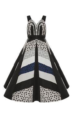 Dot Print Silk Organza A Line Dress by DELPOZO for Preorder on Moda Operandi