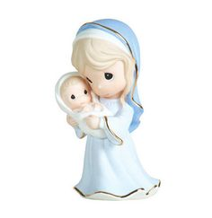 ☆ New Precious Moments Figurine Mary Holding Baby Jesus Love Porcelain Statue   eBay