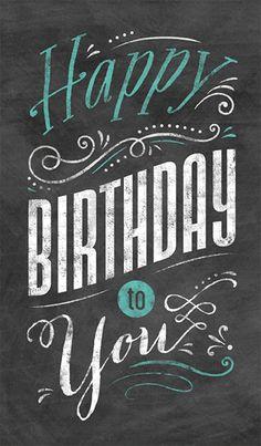 Chalkboard Birthday Business Birthday Card