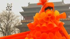 China pollution: Colourful anti-smog protest in Beijing - BBC News
