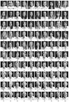 100 portraits of women and men between the ages of 1 and 100.